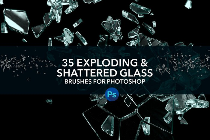 Exploding,Shattered Glass PS Brushes