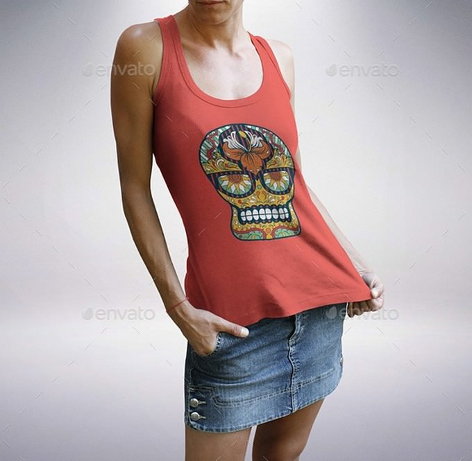 Female T-Shirt and Tank Top Bundle v.2