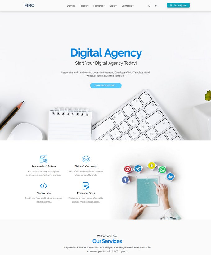 Firo - Digital Plangency HTML Template