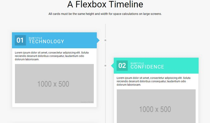 Flexbox Timeline Layout