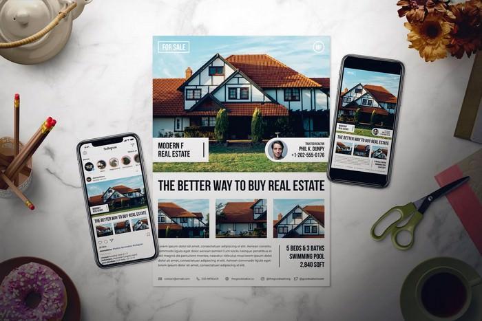 Sale Real Estate Flyer Set