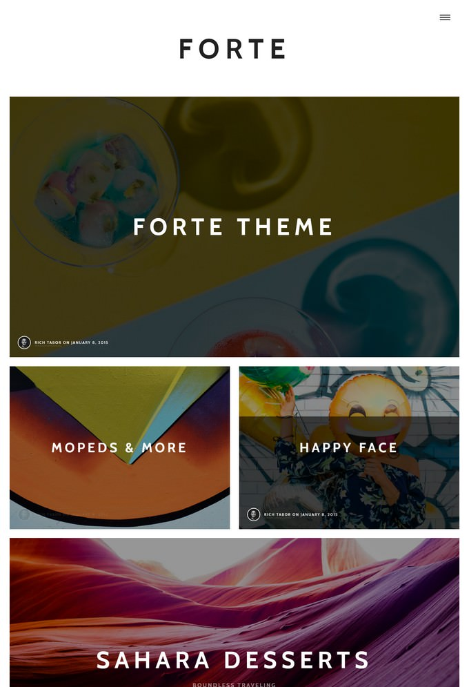 Forte - A Gutenberg WordPress Theme for Writers and Bloggers