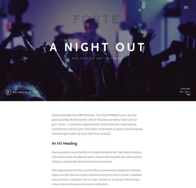 Forte - A Gutenberg WordPress Theme