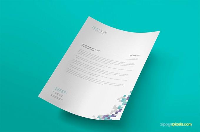 Free A4 Size Paper PSD Mockup