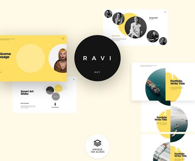 Free - Ravi Powerpoint & Keynote Template