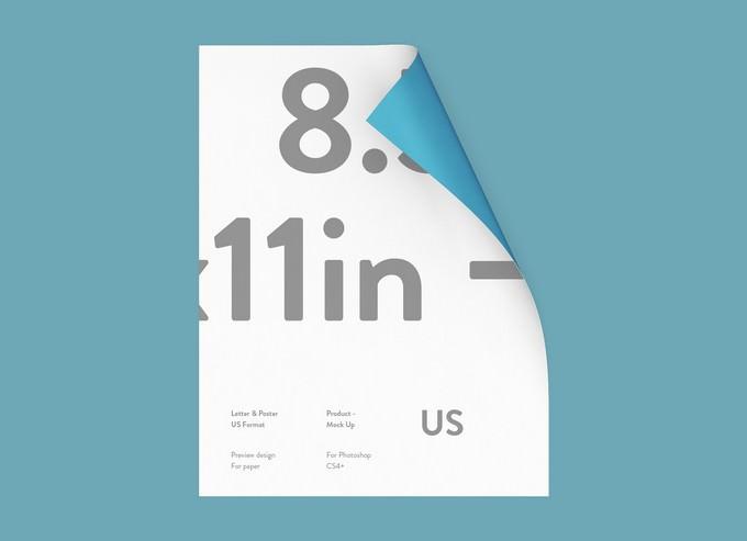 Free US Paper Letterhead Mockup PSD