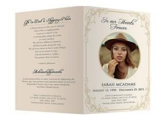 Funeral Program Template