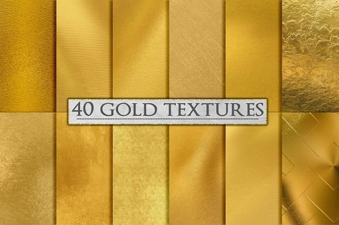 Gold Foil Textures, Gold Backgrounds