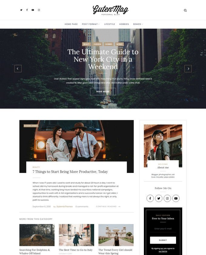 GutenMag - Gutenberg WordPress Theme for Magazine and Blog