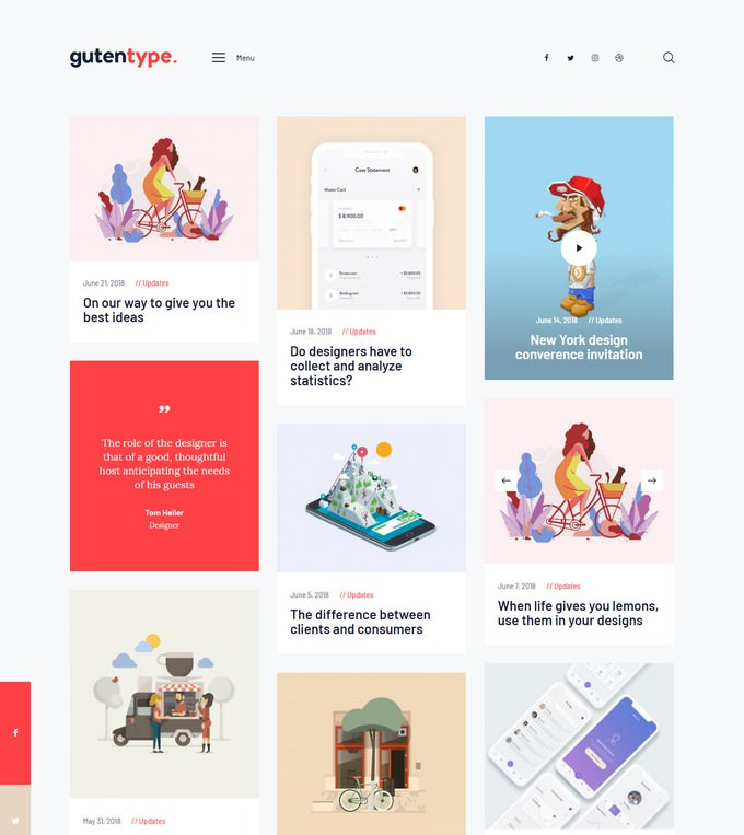Gutentype 100% Gutenberg WordPress Theme for Modern Blog