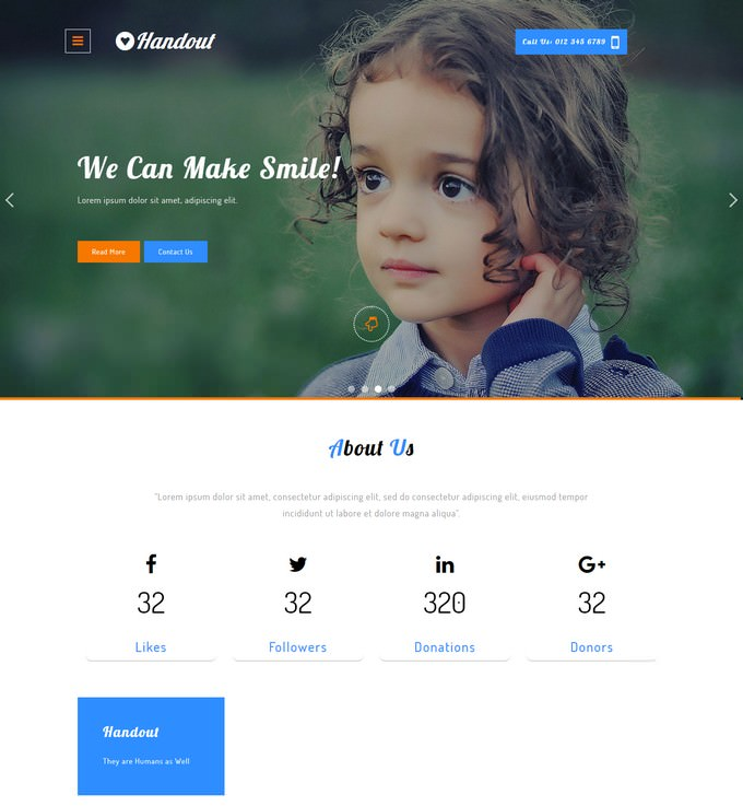 Handout A Charity Responsive Website Template