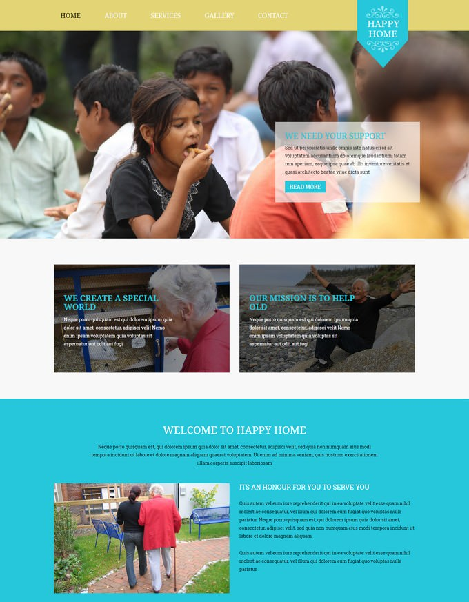 Happy Home Responsive Website Template