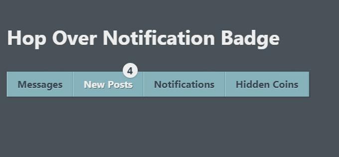 Hop Over Notification Badge