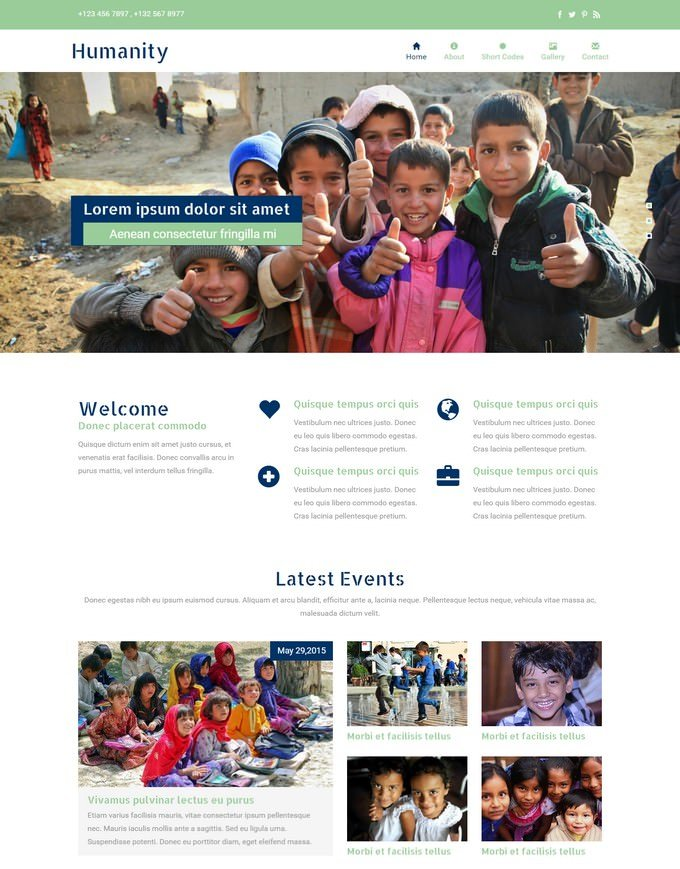 Humanity A Charity Responsive Website Template