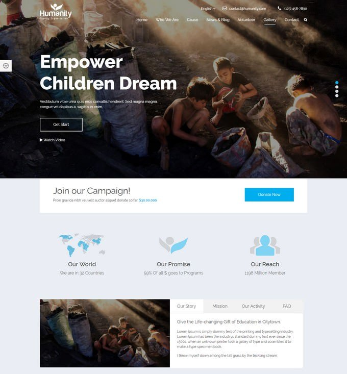 Humanity - Non-Profit Charity Theme