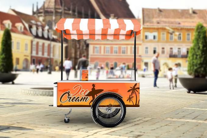 Ice Cream Cart Mock-Up
