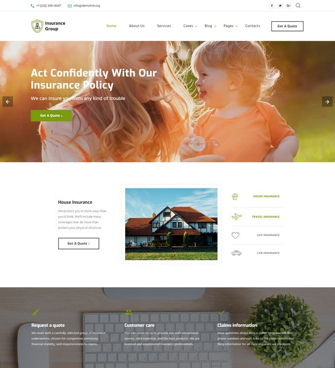Insurance Group -  HTML Website Template