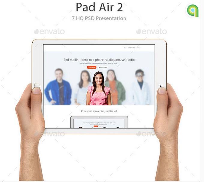 Ipad Air 2 Tablet Mockup