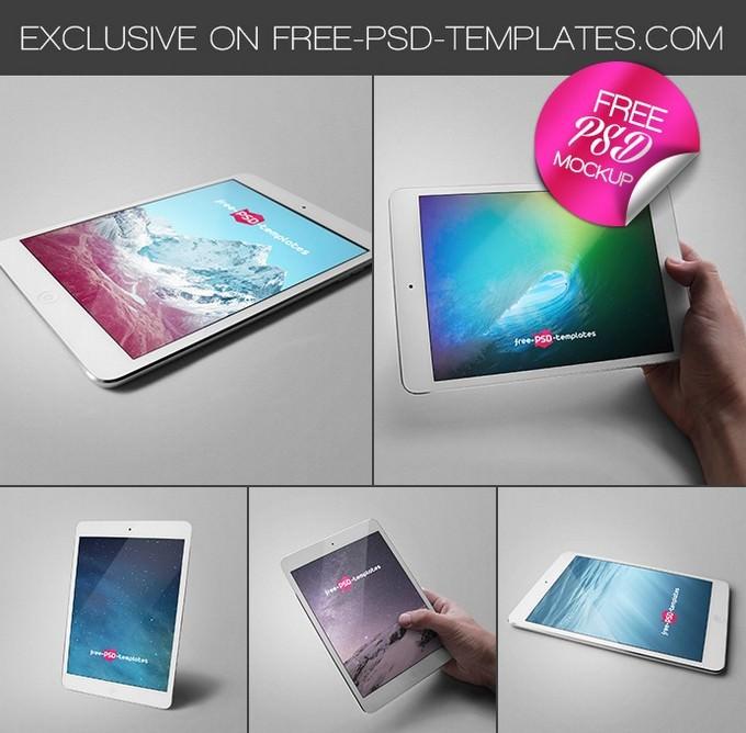 Ipad Tablet Mock-Ups Free