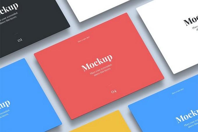Isometric Tablet App Mockup