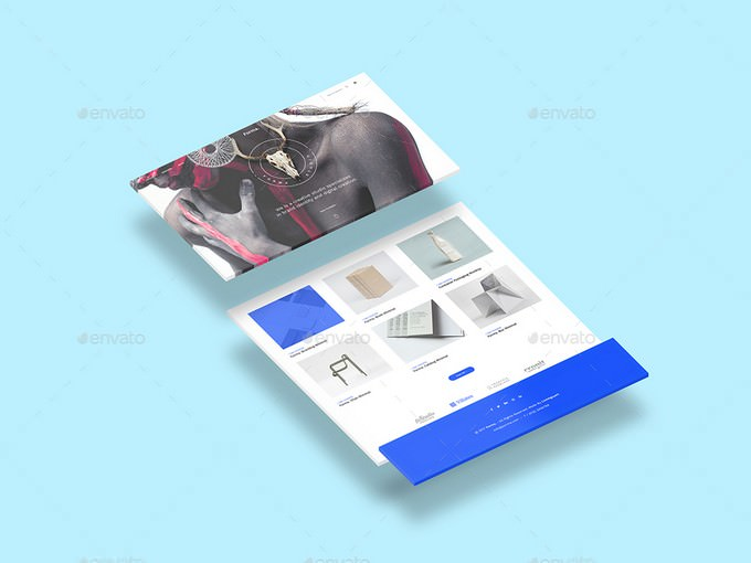 Isometric Web n App Mockup
