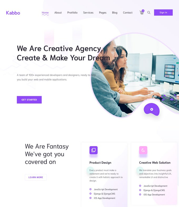 Kabbo - Creative Agency HTML Template