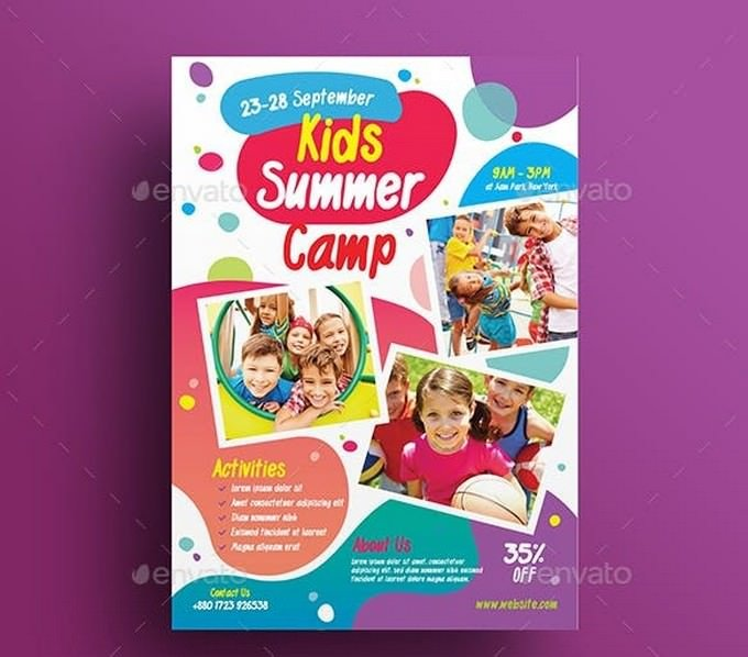 Kids Activities Kids Camp Flyer