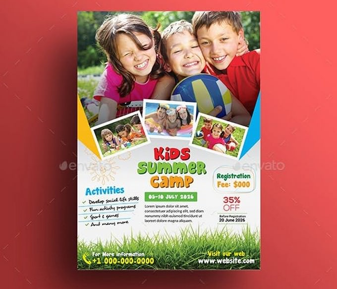 Kids Activities Summer Camp Flyer