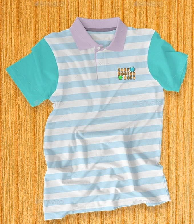 Kids Polo Shirt Mock-up # 2