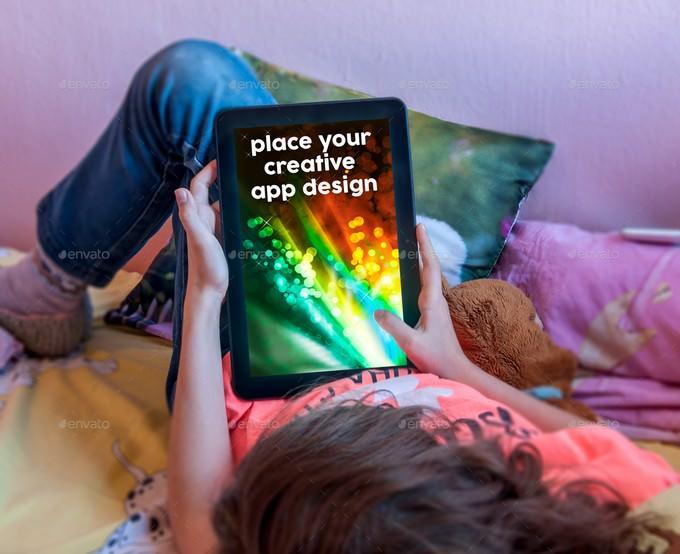 Kids Tablet Mockup