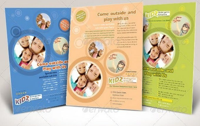 Kindergarten Daycare Flyer Templates
