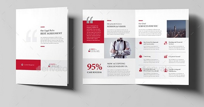 Legal Corporate Attorney Business Bi-Fold Brochure V06