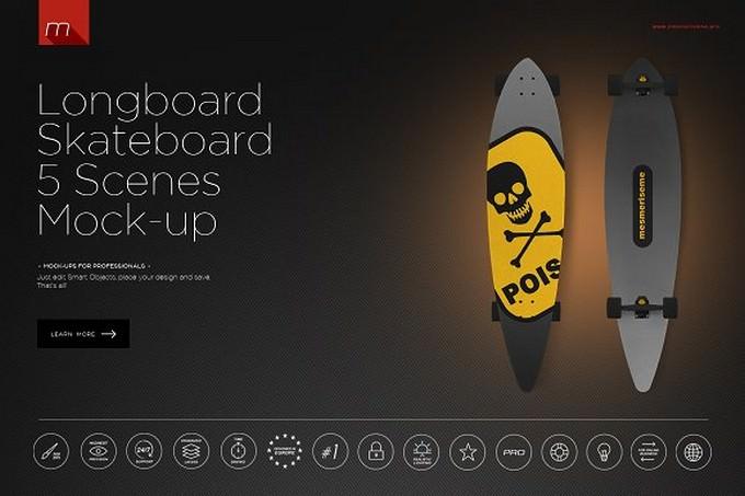 Longboard Skateboard Type 1 5 Scenes
