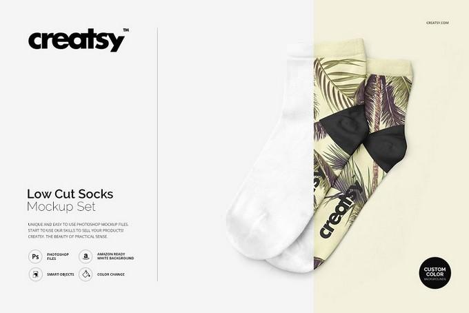 Low Cut Socks Mockup