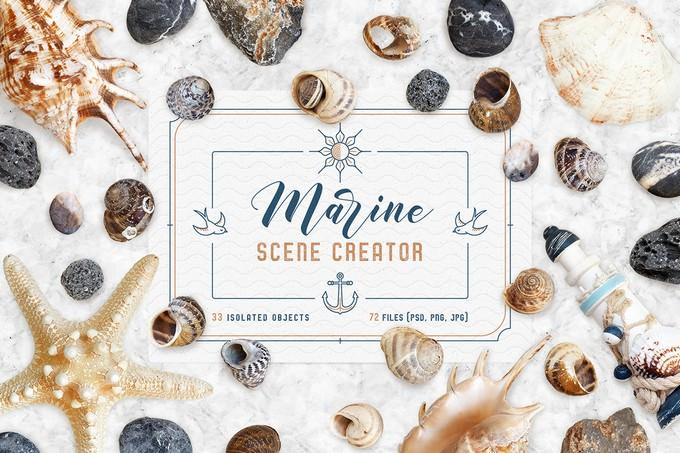 Marine Scene Creator + Free mockup