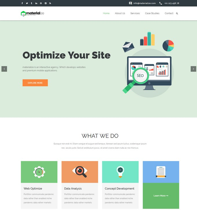 Materialize - Seo Agency HTML Template