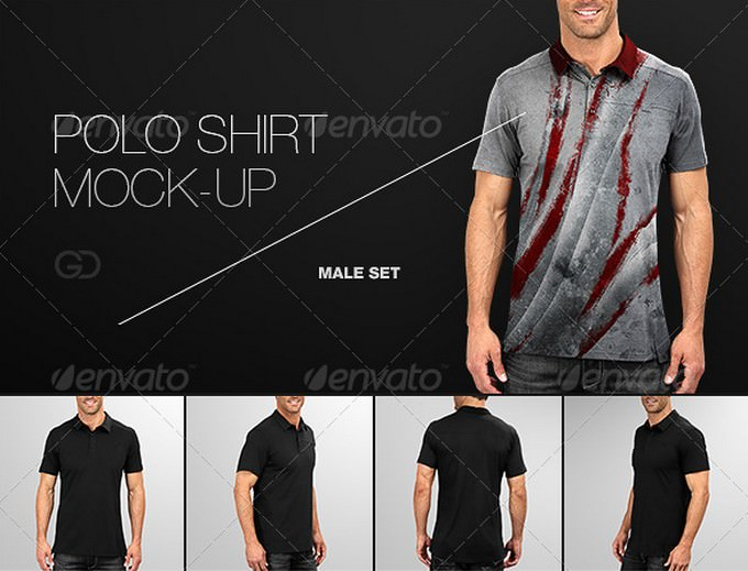 Mens Polo Shirt Mock-Up
