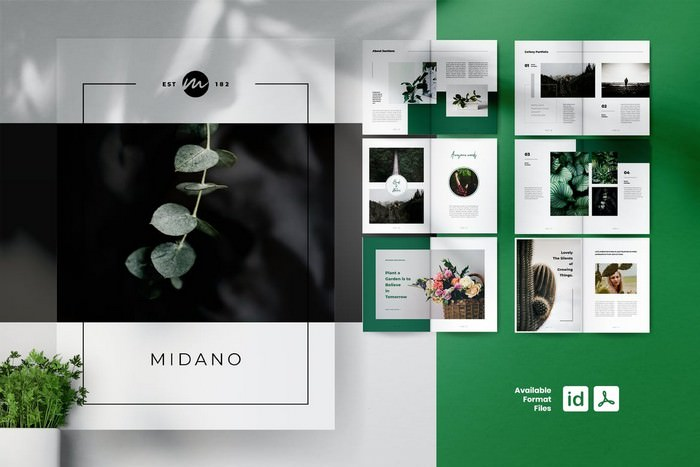 Midano Botanical Portfolio Brochures