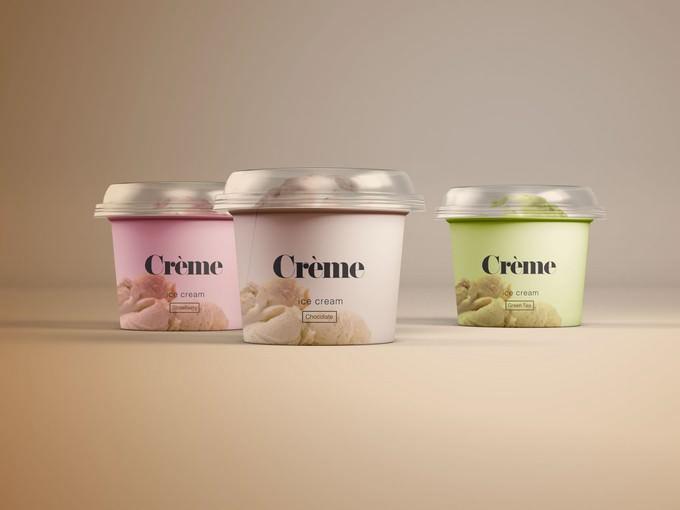 Mini Ice Cream Cup Mockups – PSD