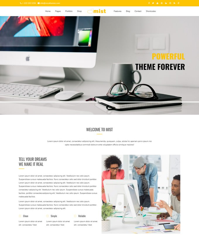 Mist Agency HTML5 Responsive Template