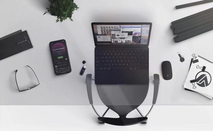 Mockups Macbook and iPhone X Black Scene Creator