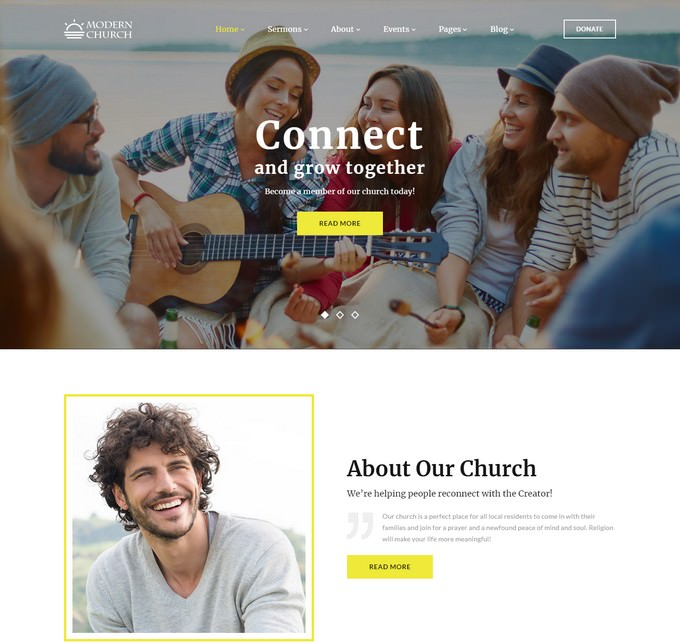 Modern Church - Multipage Religious Website Template