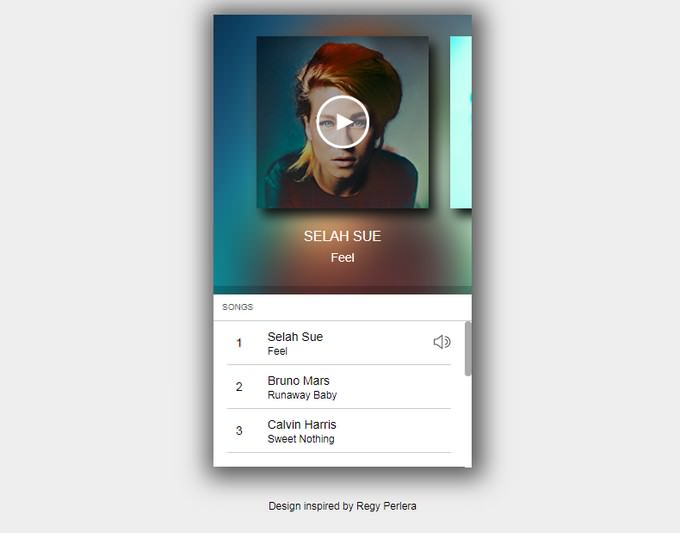 Music Player - Mobile Interface Carousel