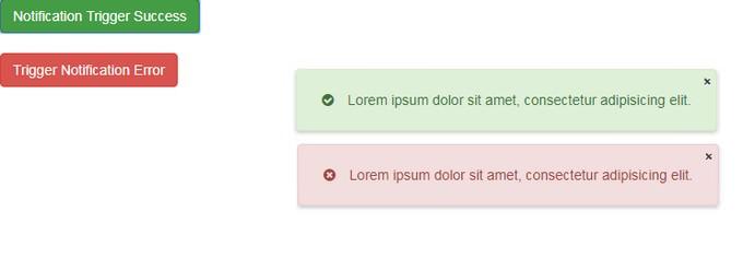 Notification CSS + JQuery