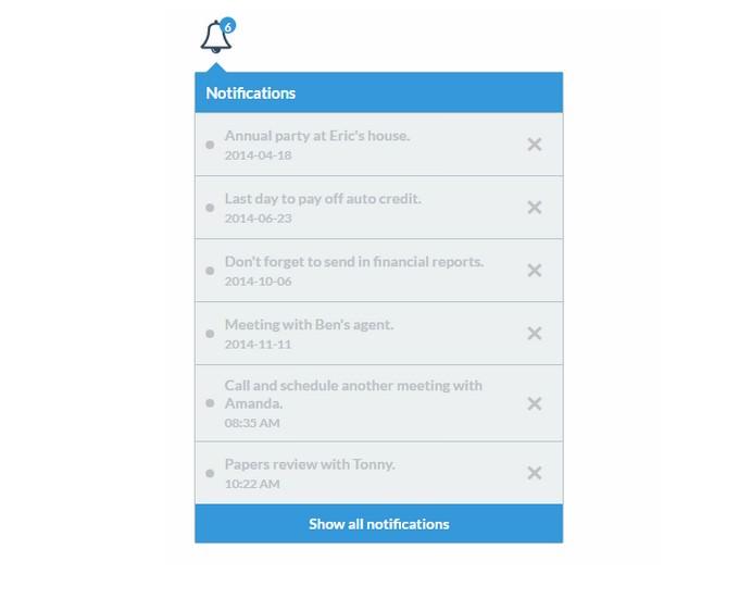 Notifications widget