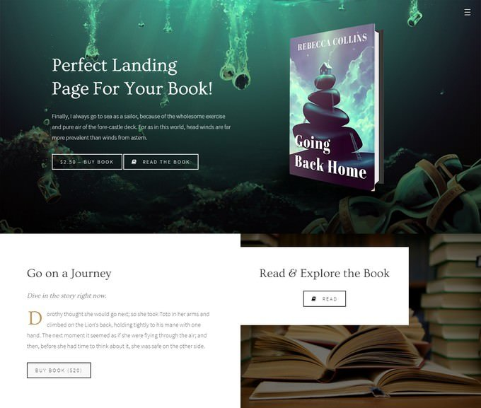 Novela - Book Landing & Reading Theme