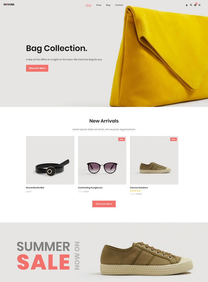 Novum - Gutenberg AJAX WooCommerce / WordPress Theme