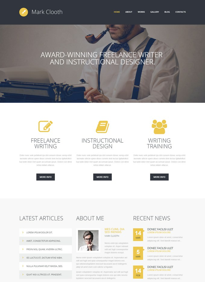 Online Freelancer Writer WordPress Theme