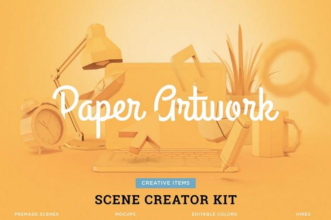 Paper Craft Scene Creator