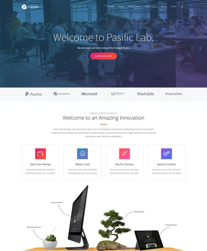 Pasific Professional Agency HTML5 Template
